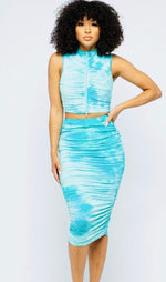 Load image into Gallery viewer, Tie dye skirt set (2 colors)