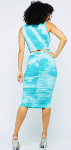 Tie dye skirt set (2 colors)