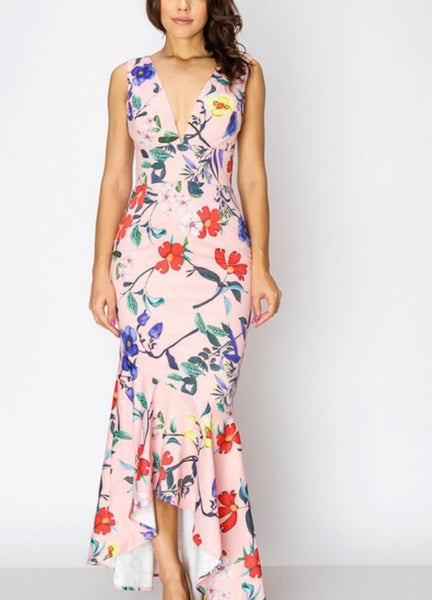 Floral mermaid dress