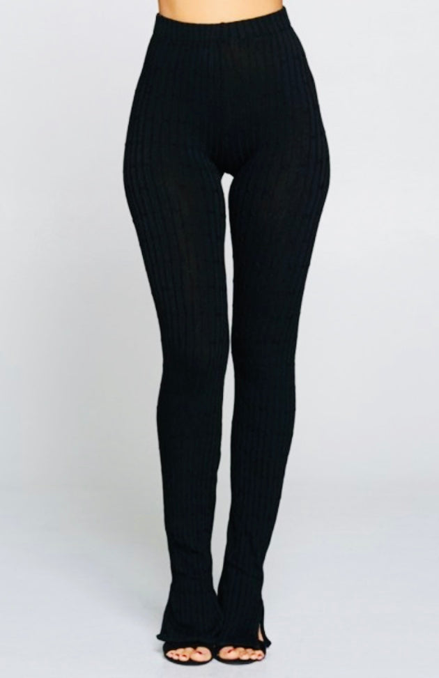 Ribbed stacked leggings (2 colors)