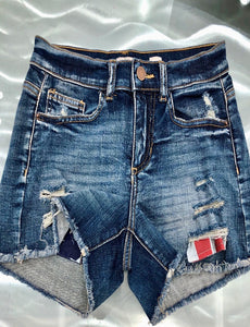 Stars & stripes jean shorts