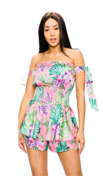 Load image into Gallery viewer, Floral print romper