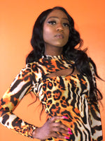Load image into Gallery viewer, Animal print bodycon dress