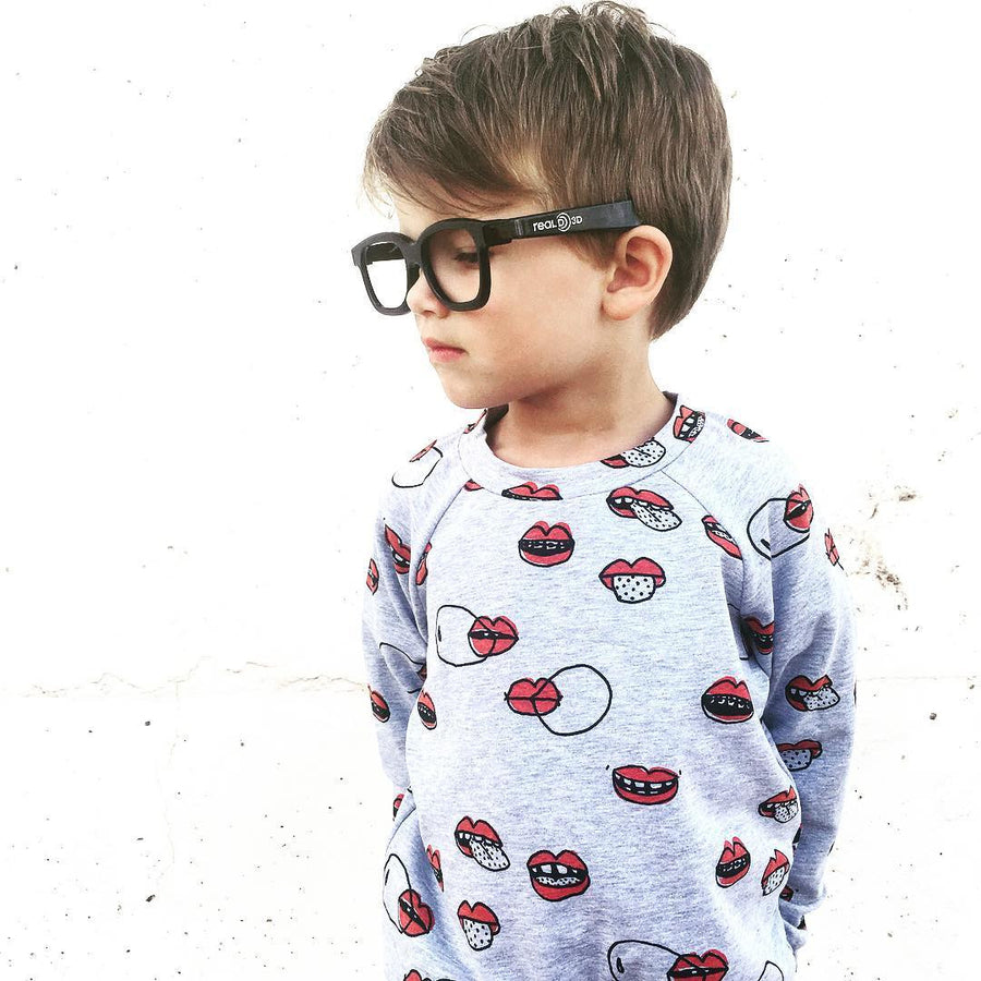 Kukukid Grey Lips Jumper