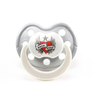 Rock Star Baby Heart & Wings Silicone Dummy
