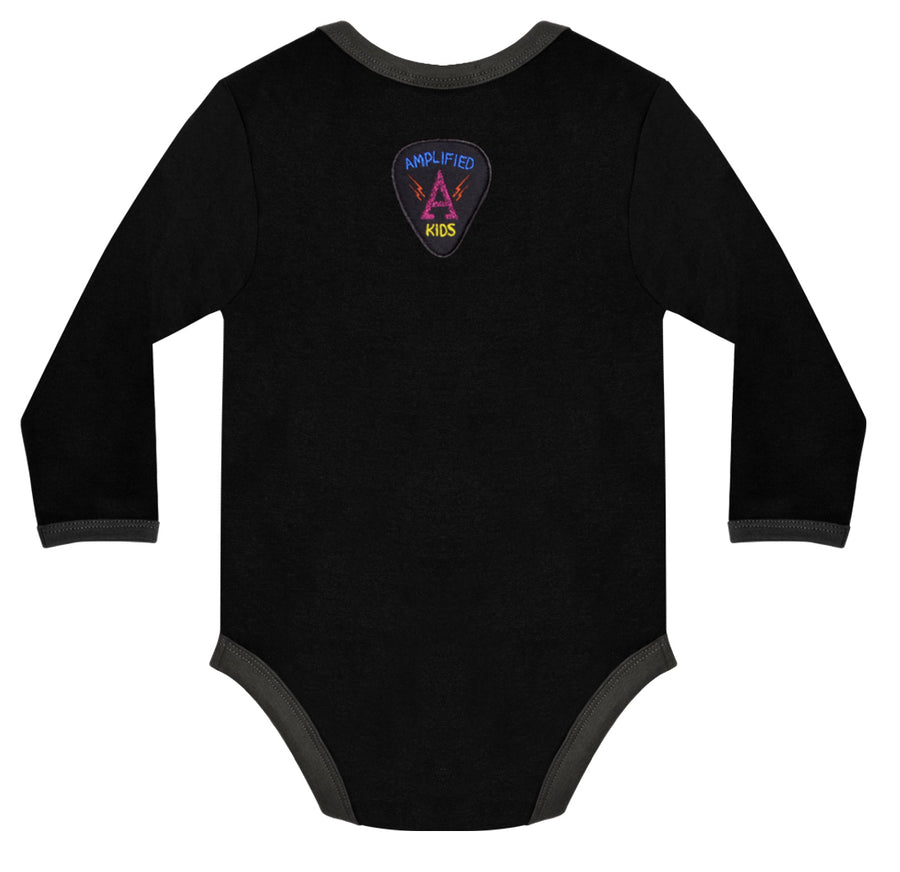 Black The Ramones Logo Babygrow