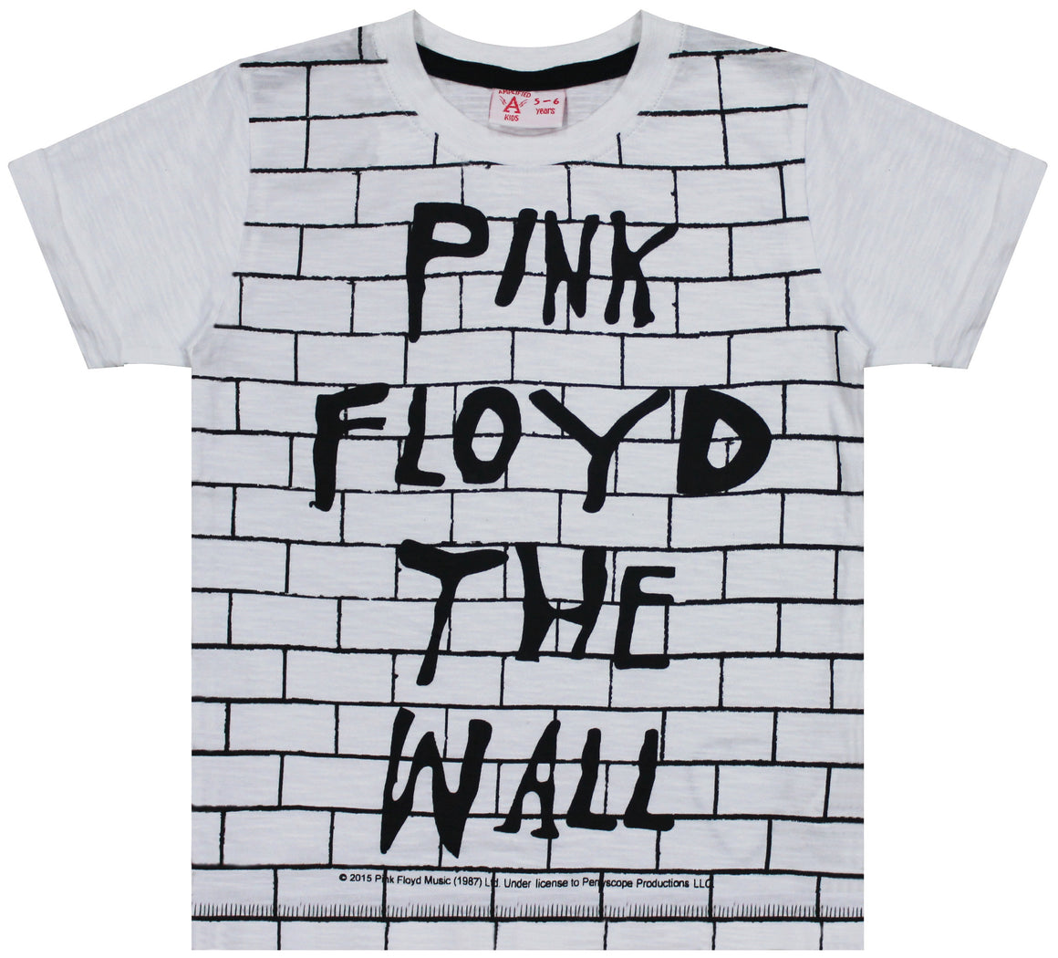 Kids White Pink Floyd The Wall Tshirt