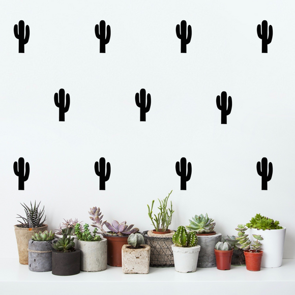 Pom Black Cactus Wall Decals