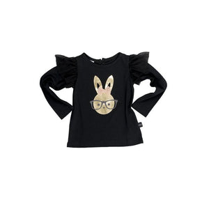 Huxbaby Bunny Frill Long Sleeve Top