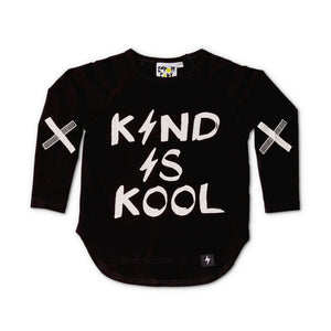 Kapow Kids Kind Is Kool LS Drop Back Top