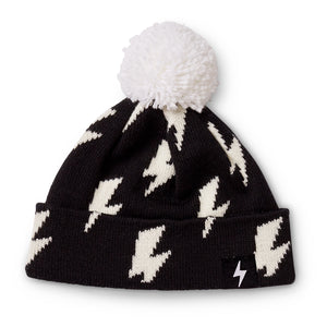 Kapow Kids Black Lightning Strikes Pom Pom Beanie