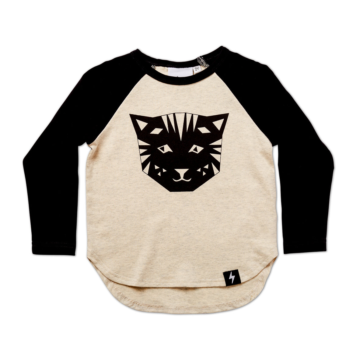 Kapow Kids Tiger LS Drop Back Top