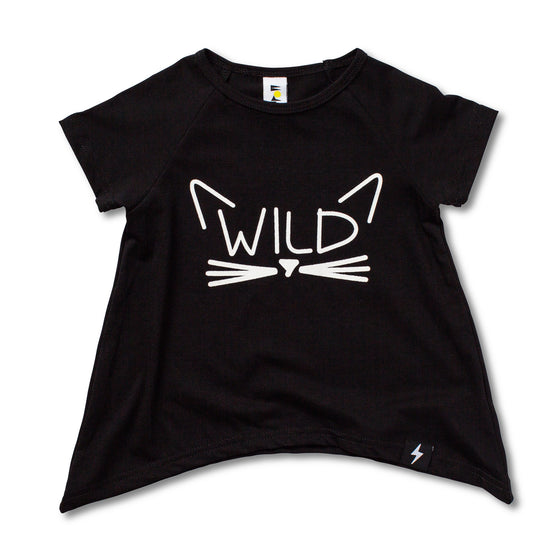 Kapow Kids Wild Cat Raglan T-shirt