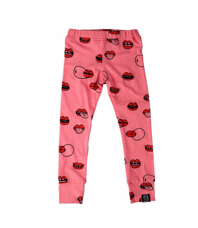 Kukukid Pink Lips Leggings