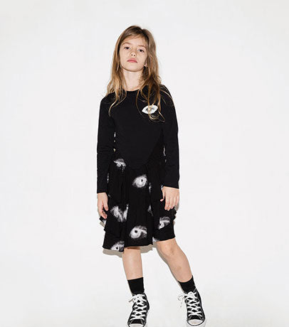 Nununu Black Layered Eye Dress