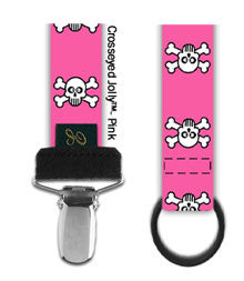 Elodie Details Pink Crosseyed Jolly Dummy Clip
