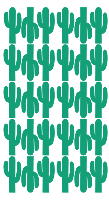 Pom Green Cactus Wall Decals