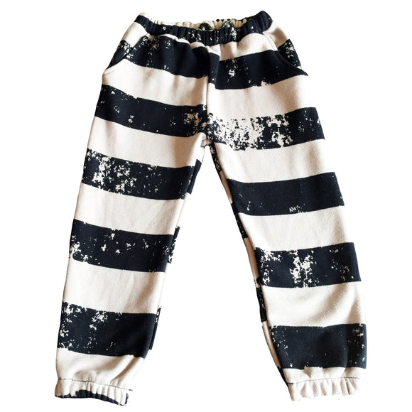 Quinn + Fox Rough Stripe Track Pants