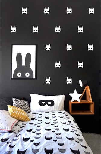 Pom White Superheroes Wall Decals