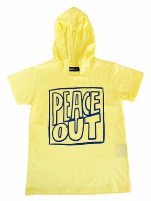 Bandit Kids Yellow Peace Out Hooded Tee