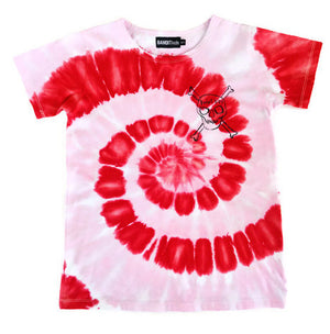 Bandit Kids Red/Powder Pink Tie-Dye Bandits Only Tee