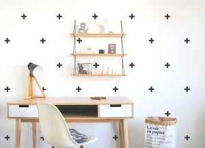 Pom Black Crosses Wall Decals