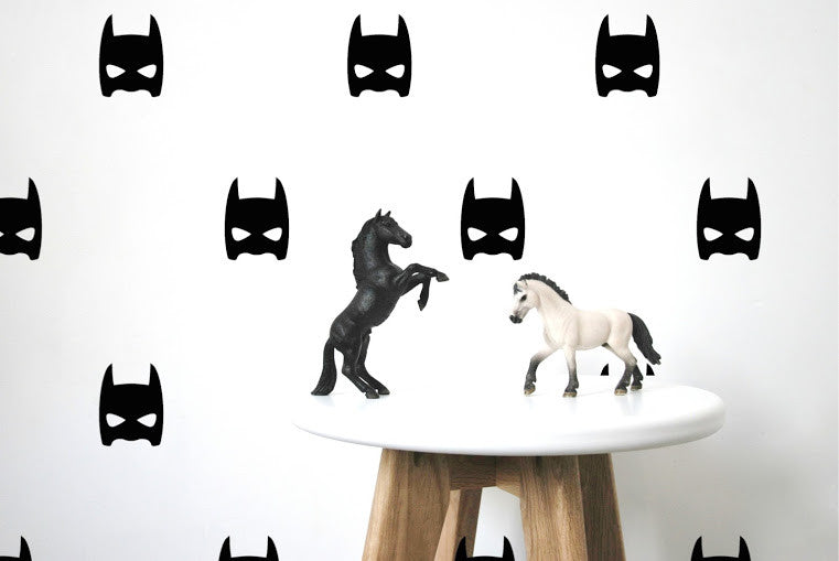 Pom Black Superheroes Wall Decals