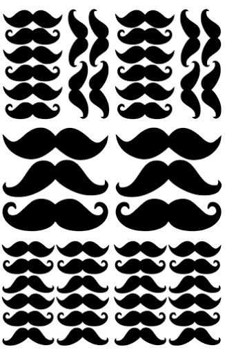 Pom Black Moustache Wall Decals