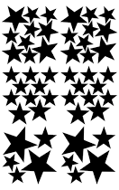 Pom Black Star Wall Decals