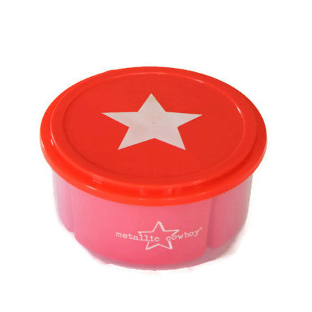 Metallic Cowboy Round Star Container