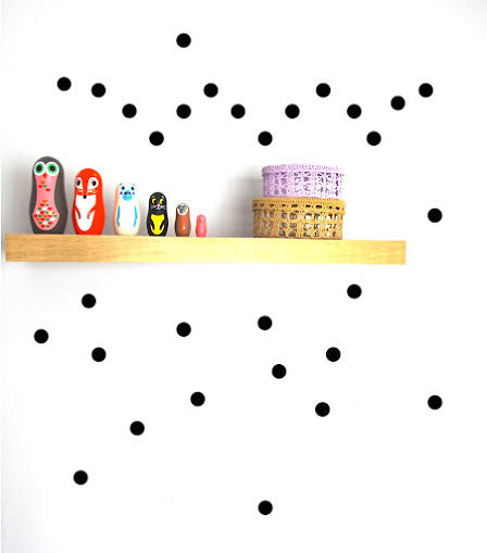 Pom Black Dot Wall Decals