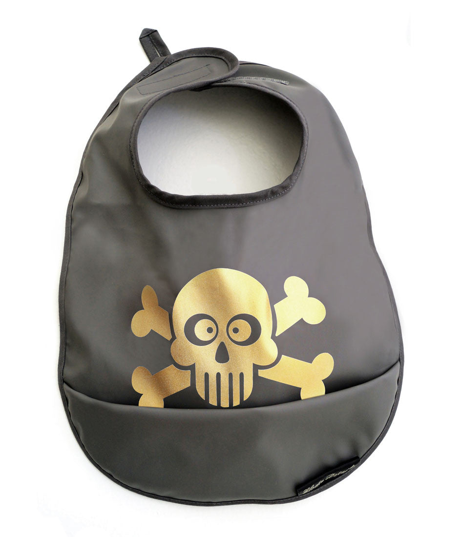 Elodie Details Pepper Grey Cross Eyed Jolly Bib