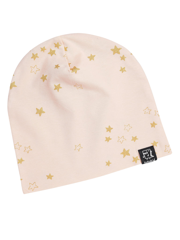 Kukukid Pink with Gold Star Beanie