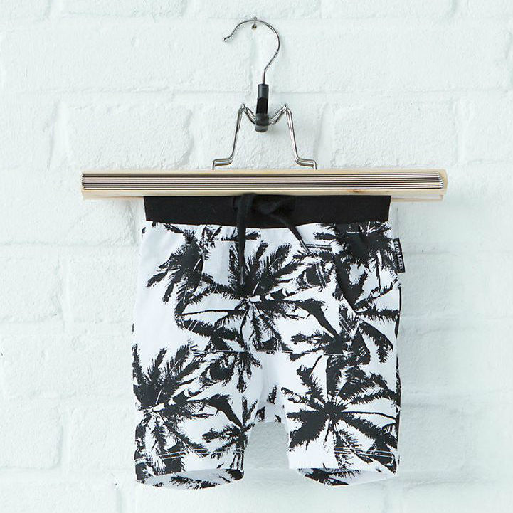 Lucky No. 7 Palm Shorts
