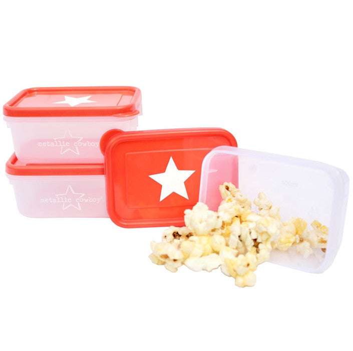 Metallic Cowboy Set of 3 Star Mini Containers