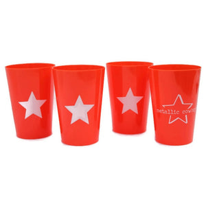 Metallic Cowboy Set of 4 Star Cups