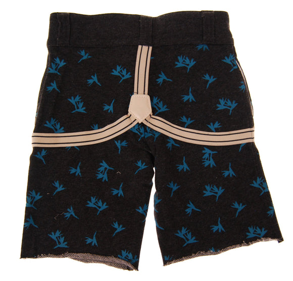 Mini Shatsu Birds of Paradise Suspenders Shorts