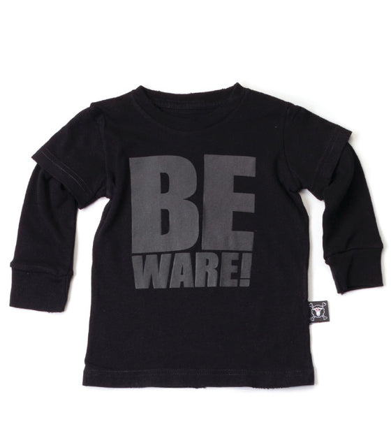 Nununu Black Beware Long Sleeved T-Shirt