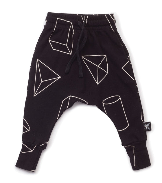 Nununu Black Geometric Baggy Pants