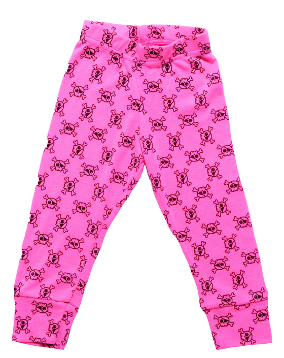 Nununu Pink All Over Skull Leggings