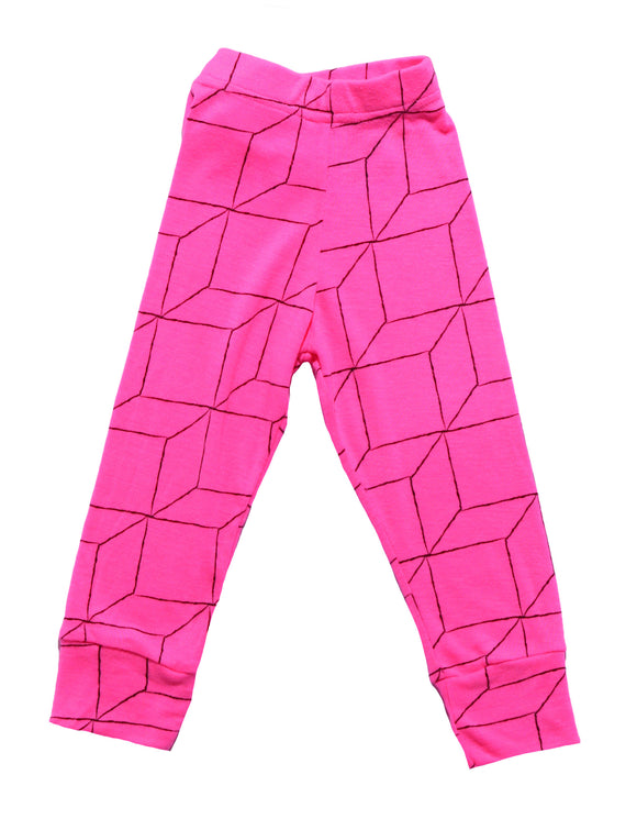 Nununu Pink Grid Leggings