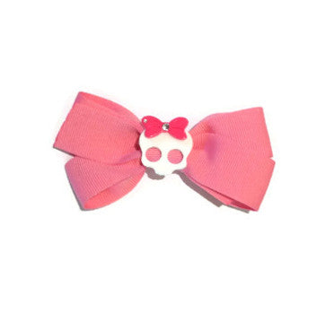 Oscar Blue Pink Bow with White Skull