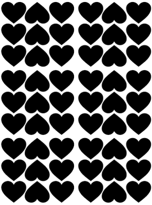 Pom Black Heart Wall Decals