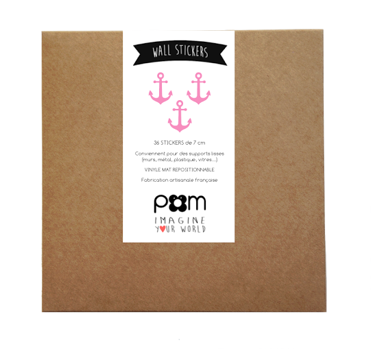 Pom Pink Anchor Wall Decals