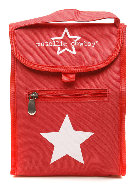 Metallic Cowboy Star Lunch Bag