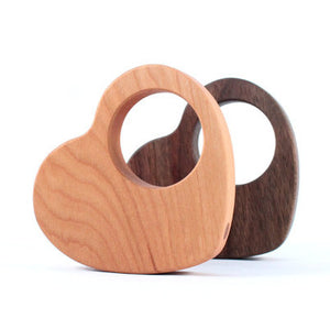 Smiling Tree Toys Wooden Heart Rattle
