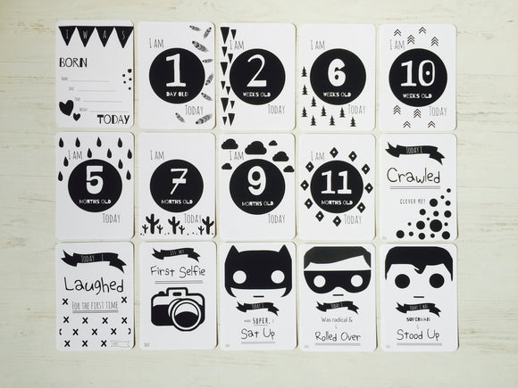 Snugipops Superhero Milestone & Moments Cards