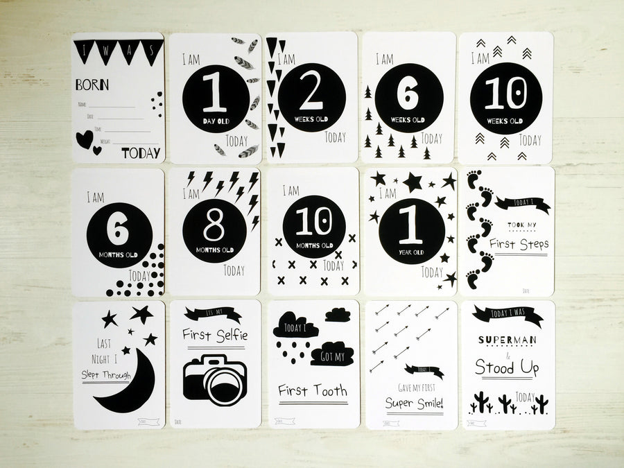 Snugipops Standard Milestone & Moments Cards