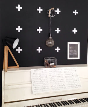Pom White Crosses Wall Decals
