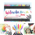 Load image into Gallery viewer, 20PCS Watercolor Brush Pens